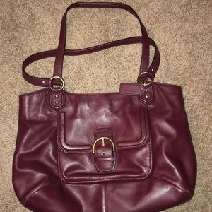 Coach leather carry-all